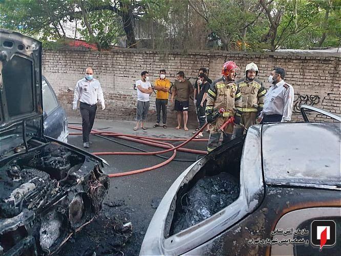 انفجار ۴ ماشین در دیباجی تهران