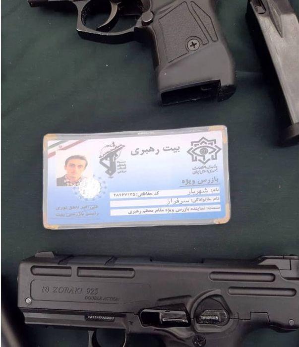 بازرس قلابی بیت رهبری دستگیر شد+ عکس