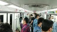 عکس/ شلوغی مترو در قرنطینه نمایشی تهران