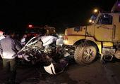 واژگونی وحشتناک کامیون در بزرگراه تهران