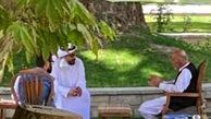 عکس لو رفته از دیدار خصوصی اشرف غنی با یک مقام اماراتی