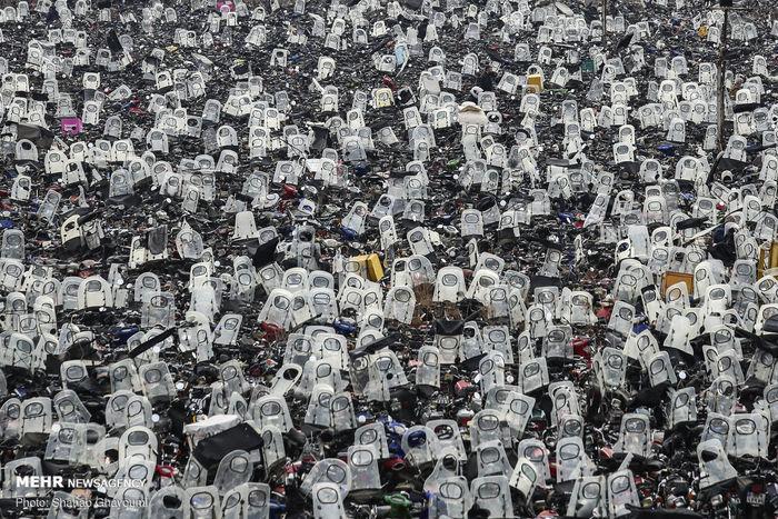 تصاویر/ گورستانی برای موتورها