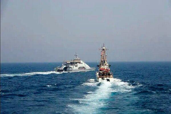 کشتی های جنگی ایران و آمریکا رو در روی هم قرار گرفتند