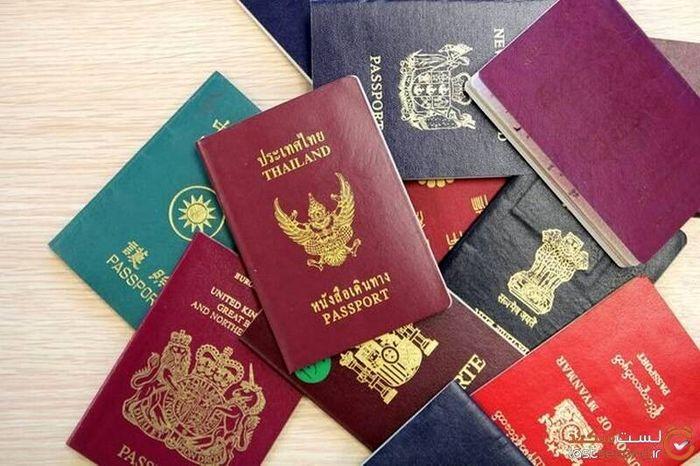 بررسی معانی رنگ پاسپورتها