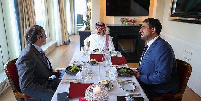 دیدار گروسی با وزیر امور خارجه عربستان درباره تحولات ایران
