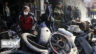 تصاویر/ حادثه آتشسوزی در میدان رازی