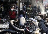 فوری / آتش سوزی مهیب در خیابان مولوی + فیلم