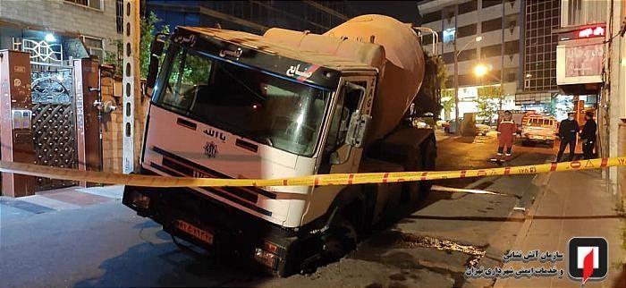 راننده بدشانس کامیون، در خیابان گیر کرد!