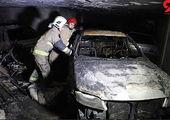 آتش سوزی به پشت دیوارهای مهرآباد رسید