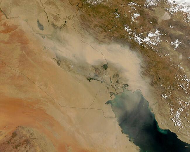 همه چیز درباره ورود توده هوای سمی از عراق به ایران