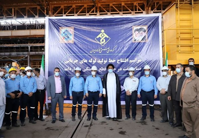 افتتاح خط تولید لوله های جریانی نفت