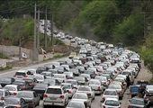ترافیک سنگین در محور کرج_چالوس