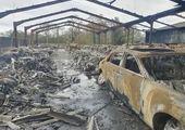 جزئیاتی از آتش گرفتن یک خودرو مقابل دادگستری اراک