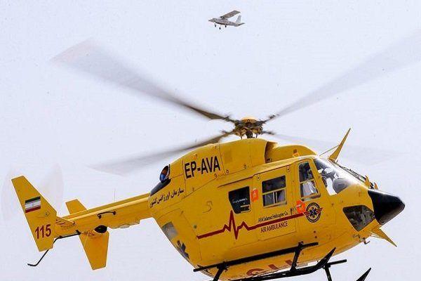 سقوط هلیکوپتر در فرودگاه ایلام
