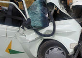 واژگونی اتوبوس در تربت حدریه / عکس