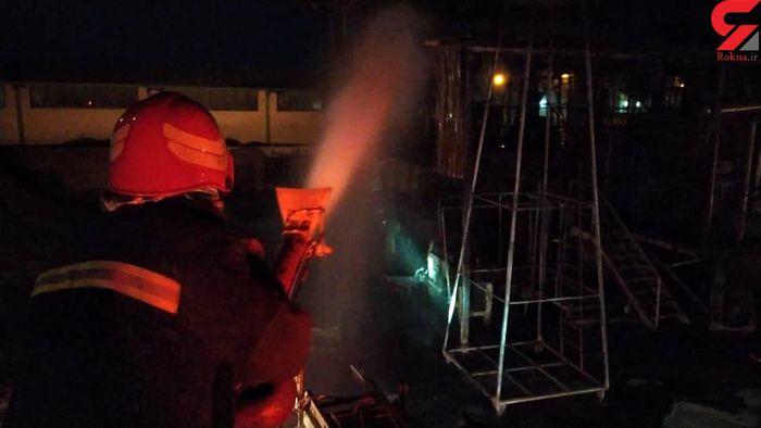 آتش سوزی در یک واحد تولیدی روغن + جزئیات