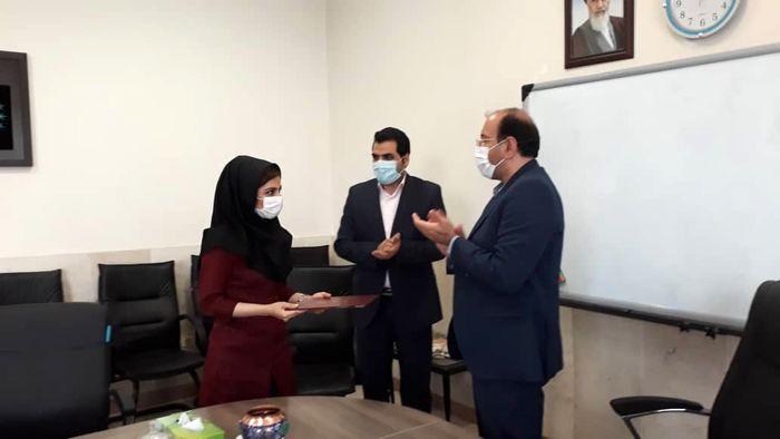 تقدیر از دانشجوی برگزیده پایان نامه برتر ایران