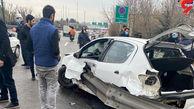 تصادف هولناک در تهران / دو پای راننده قطع شد! + تصاویر