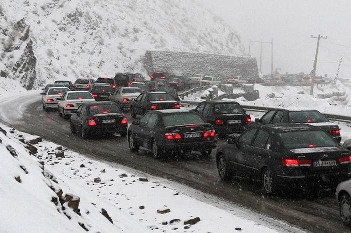 اعلام جاده های شریانی مسدود درپی بارش برف و کولاک در کشور