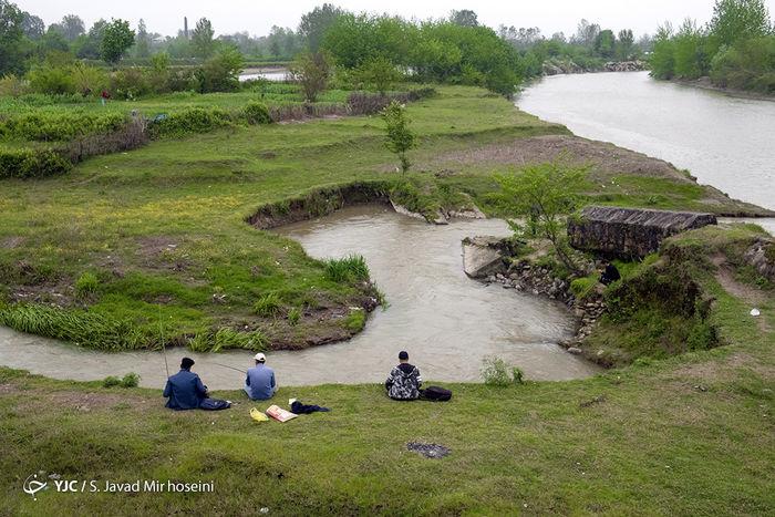 تصاویر/ لذت ماهیگیری با قلاب