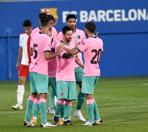 پیروزی فوق العاده بارسلونا با درخشش مسی
