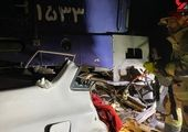 گاردریل تاکسی را نصف کرد؛ زنده ماندن معجزهآسای راننده