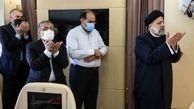 اقتدای نماز امیرعبداللهیان به رییسی در تاجیکستان + عکس