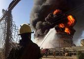 انفجار و آتش سوزی در پتروشیمی بندر امام + فیلم