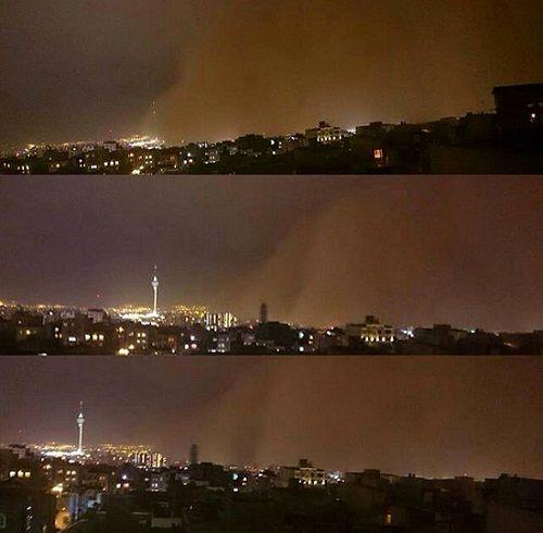 طوفان شدید تهران و کرج را درنوردید