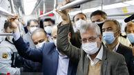 تصاویر/ سخنگوی دولت در متروی پایتخت