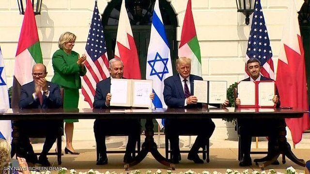 امضای توافقنامه صلح امارات با اسرائیل در کاخ سفید